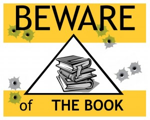 Beware of books sign
