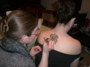 Ann Warren Doing Henna