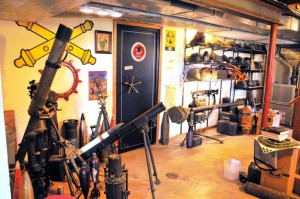 The outside of a personal gun vault.