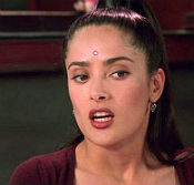 Salma Hayek as the muse from Dogma