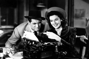 Cary Grant and Rosalind Russell, His Girl Friday