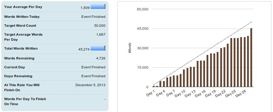 Ashley - NaNo 2013 Statistics